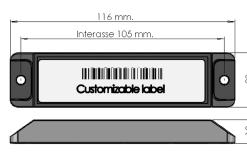 TAG RFID metallo mom durevole